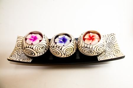 Spa candle relax aromatherapy tool handmade - Thai souvenir Stock Photo - 21962454