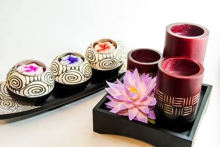 Spa relax aromatherapy tool with Lotus handmade - Thai souvenir Stock Photo