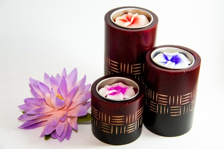 Candle spa aromatherapy tool with Lotus - Thai gifts Stock Photo - 21962472
