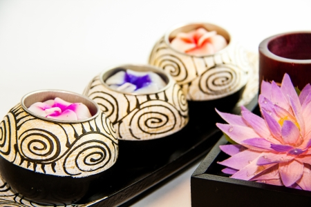 Kerze Spa-Therapie-Tools mit Blume - Thai Souvenir