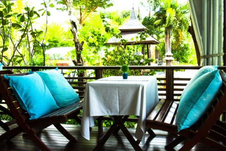 Relax outdoor liveing room on holiday pattaya Thailand  Image Stock Photo - 22303096