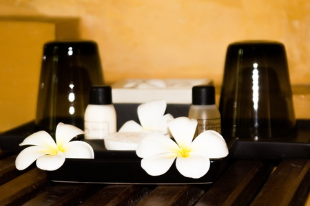 Aromatherapie entspannen Natur mit Blume Lizenzfreie Bilder