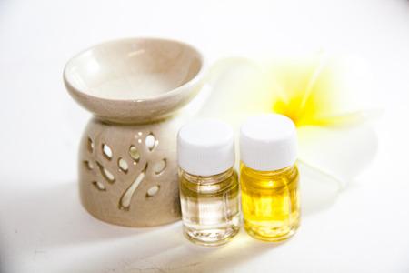 flower aroma spa set  stock photo
