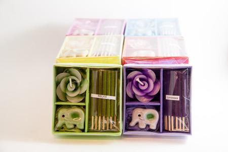 Candle Spa-Aromatherapie-Tool in Kasten - siamesische Geschenke Bild Lizenzfreie Bilder