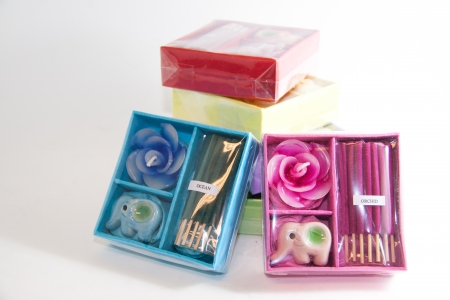 Candle spa aromatherapy tool - Thai gifts  Image Stock Photo