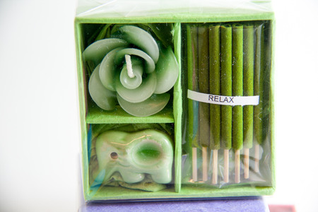Green Candle spa aromatherapy tool - Thai gifts  Image