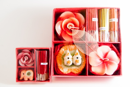 Candle spa aromatherapy tools - Thai gifts  Image Stock Photo