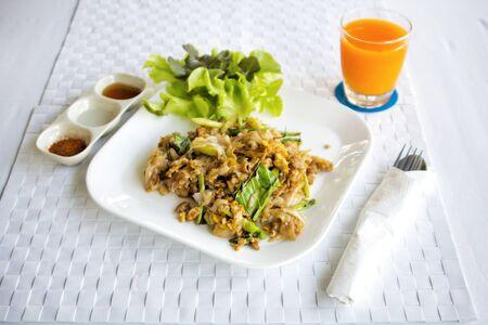 Food organic with drink Orange juice for healthy breakfast