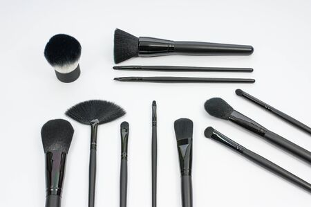make up brushes: Make up brushes are in the white background