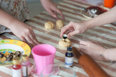 making of cookies photo
