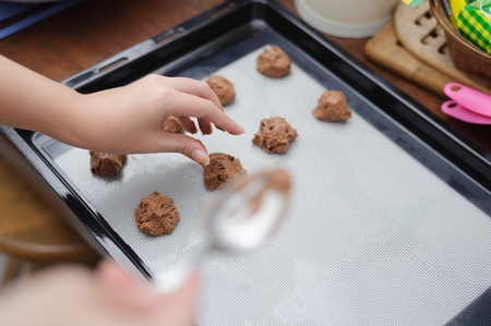 chocolate chip cookie: unfinished chocolate chip cookies