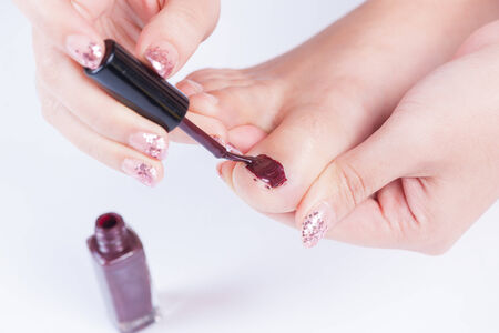 toenail painting practice photo
