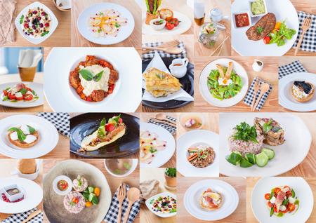 comida italiana: Una colecci�n de alimentos de fusi�n Foto de archivo
