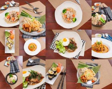 and tasty: Thai street food mix with Chinese and Japanese ingredients in modern style