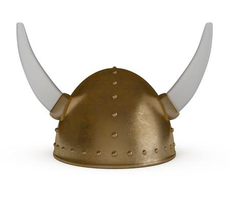 headgear: Viking Helmet isolated on white - 3d illustration