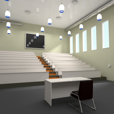 lecture hall: Empty Lecture Hall in University - 3d illustration