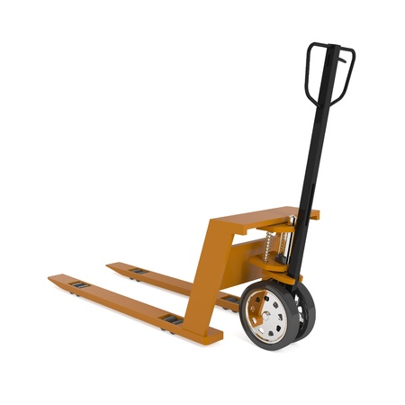 Pallet Hand Truck isolated on white - 3d illustration illustration