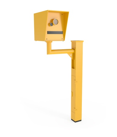policing: Road Speed Camera isolated on white - 3d illustration Stock Photo