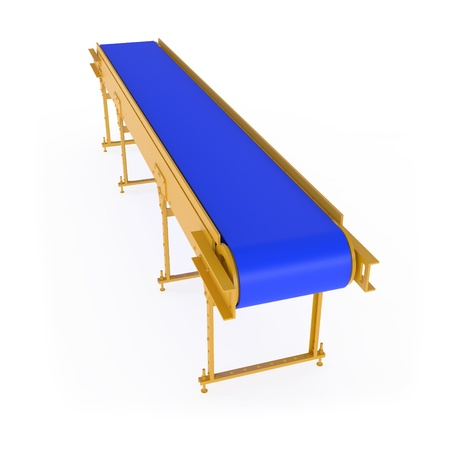 New Conveyor isolated on white - 3d illustration illustration