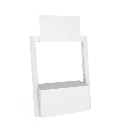 Exhibition Stand isolated on white - 3d illustration illustration