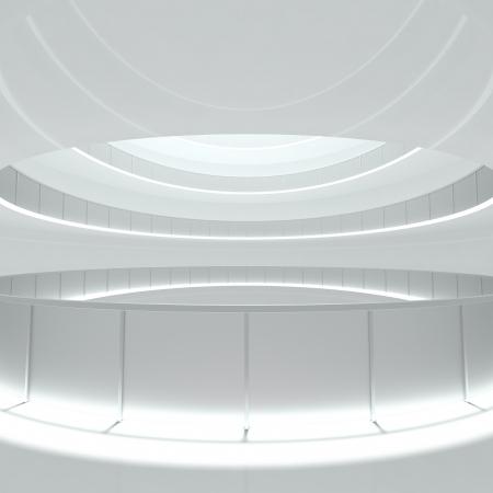 Construction Background - empty corridor - 3d illustration Stock Illustration - 21086081