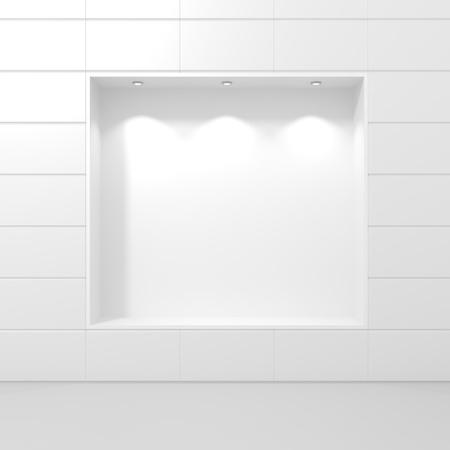 Storefront of Luxury Boutique - 3d illustration illustration