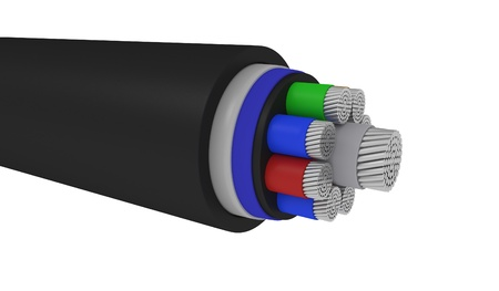 Cables isoleted on white - 3d illustration illustration