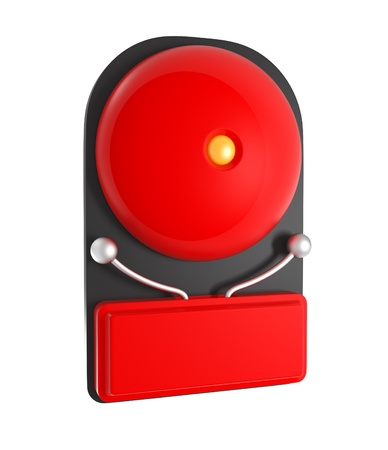 Design Pattern of Red Fire Alarm isolated on white - 3d illustration illustration
