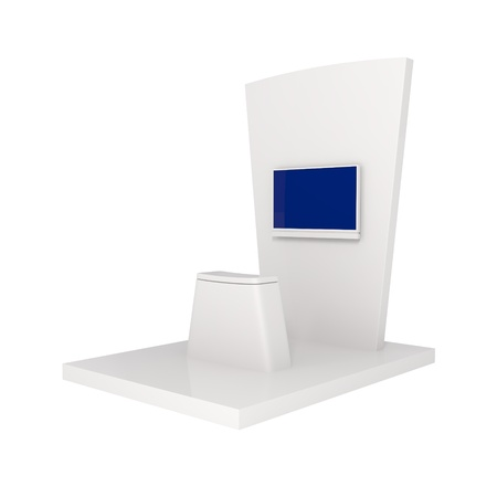 Exhibition Stand isolated on white - 3d illustration Stock Illustration - 21364586
