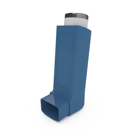 asthma: Asthma inhaler isolated on white - 3d illustration