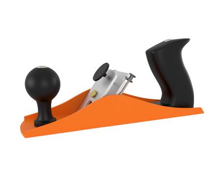 wood planer: Carpenter tool wood planer isolated on white - 3d illustration