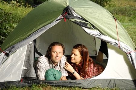 picknic: Couple in a tent