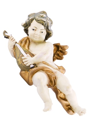putto: Lute playing putto