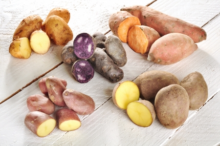 Different sorts of potatoes
