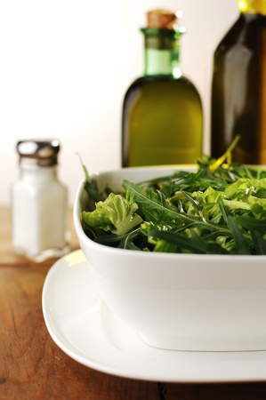 Fresh Green Salad with Arugula, Rocket