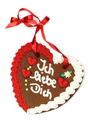 in liebe: Gingerbread heart Ich liebe Dich