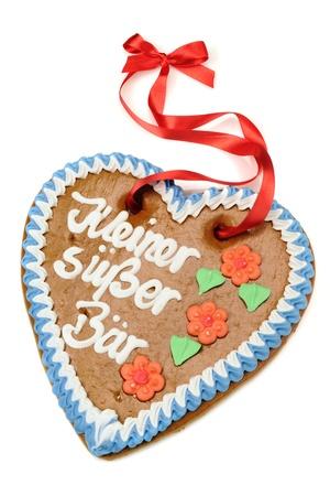 "Gingerbread kalp ""Kleiner Suesser Baer"" Stock Photo"