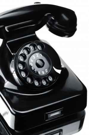 bakelite: Black bakelite telephone