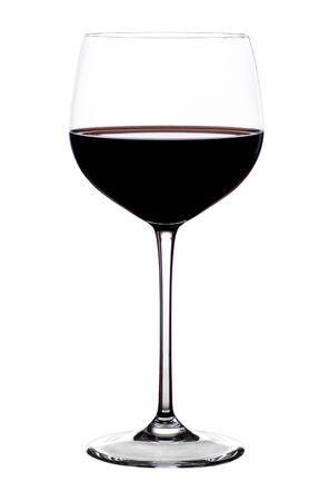 glas: Glas of red Wine on white
