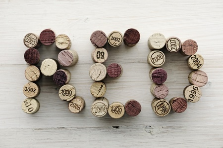 cohort:  RED  written with corks