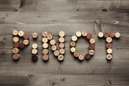 pinot:  PINOT  written with corks