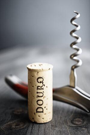Douro Cork, Portugese wijn planten gebied, selectieve aandacht Stockfoto