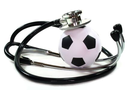 Stethoscope with football photo