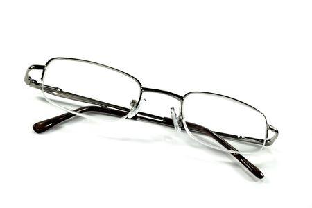 sense of sight: Reading glasses on a white background Stock Photo