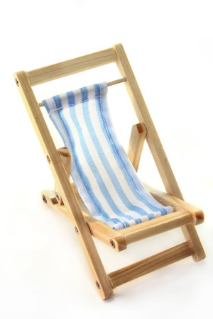 Deck chair on a white background Stock Photo - 7226879