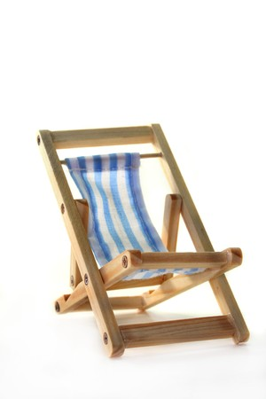 Deck chair on a white background Stock Photo - 7226878