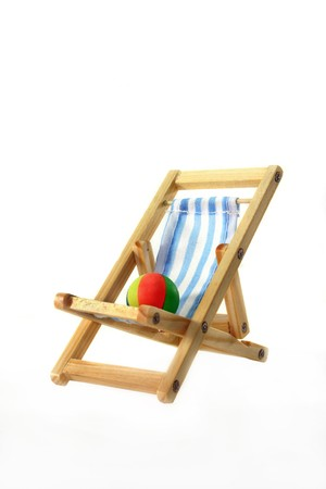 Deck chair on a white background Stock Photo - 7226880