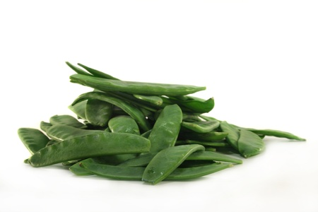 Fresh sugar peas on a white background Stock Photo - 8602273