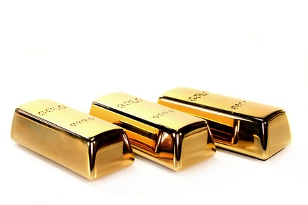 speculation: three gold bars on a white background