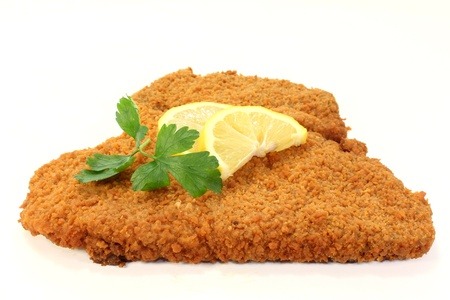 Viennese-style schnitzel with lemon and parsley